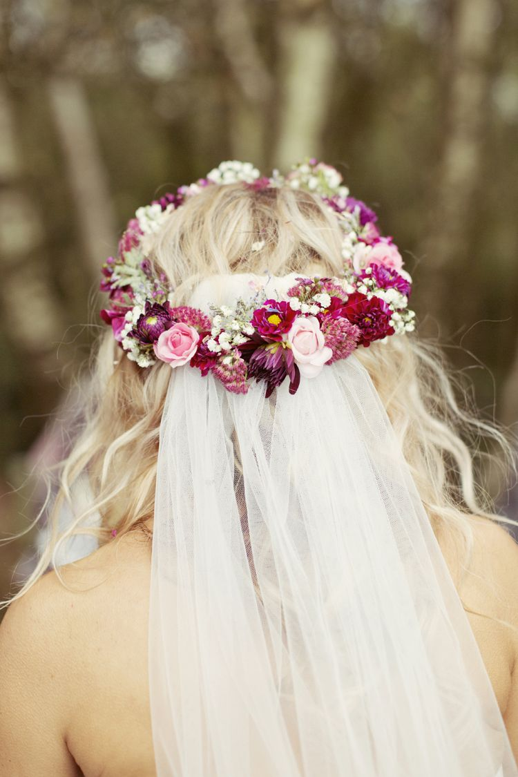 Whimsical Woodland Autumn Wedding Pinterest Circlet Flower