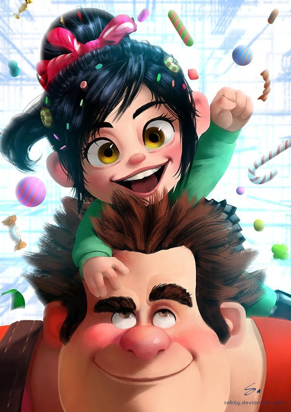 Vanellope and Ralph ( Wreck it Ralph ) by Sebijy on DeviantArt