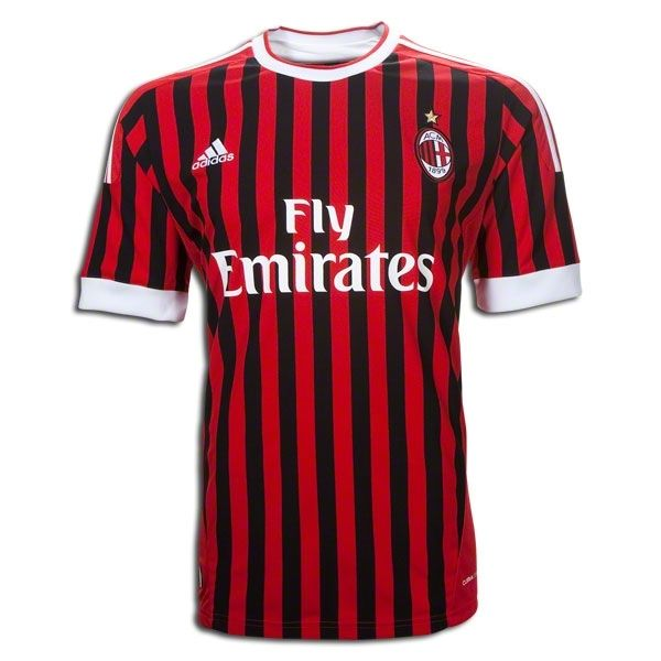 AC Milan 11/12 Home Soccer Jersey · Ac MilanSoccer JerseysCleatsAdidasFootball  ShoesFootball ...