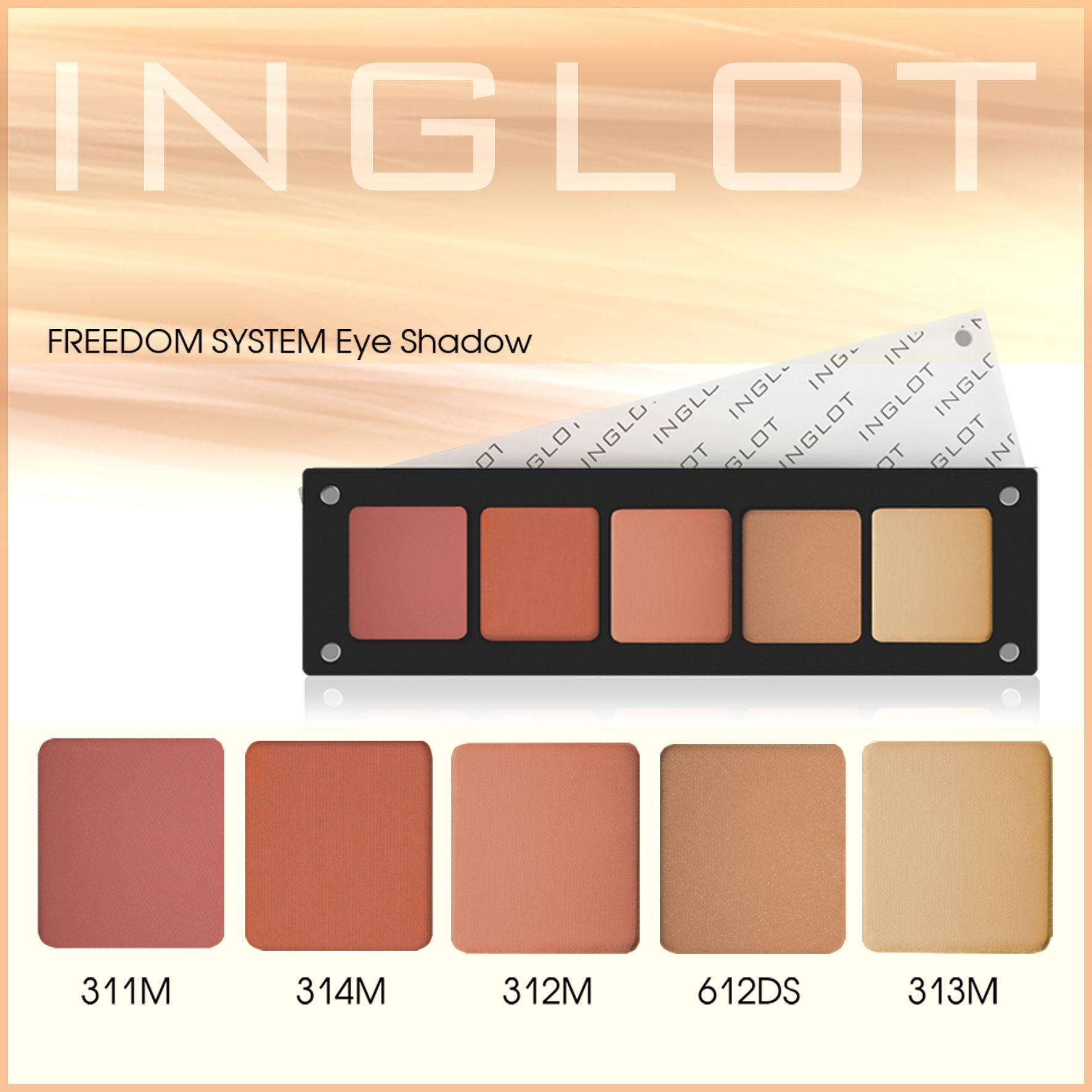 My brights mattes custom palette from Inglot. #Eyeshadows