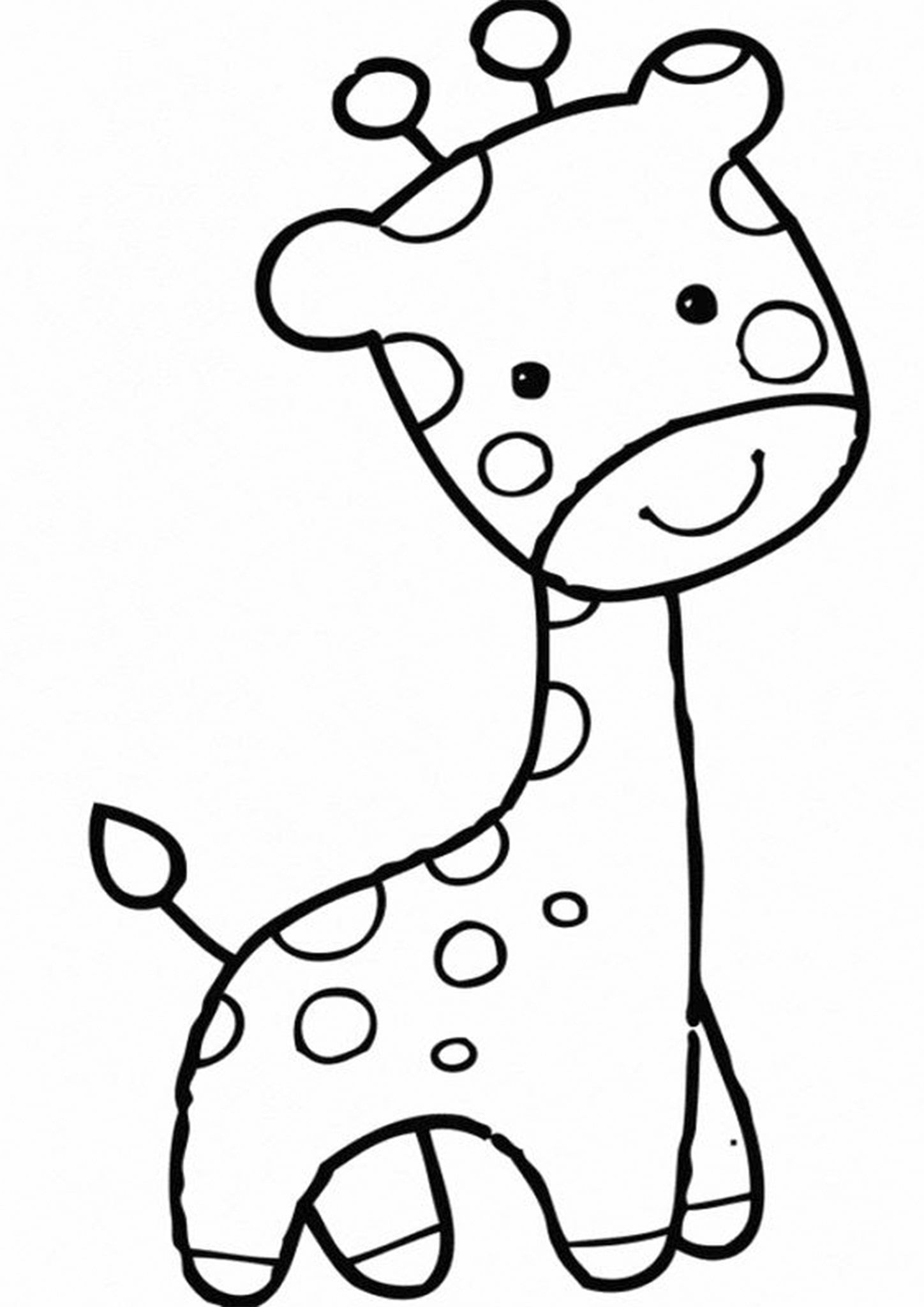 Free Easy To Print Baby Animal Coloring Pages Giraffe Coloring Pages Animal Coloring Pages Easy Animal Drawings [ 2048 x 1448 Pixel ]