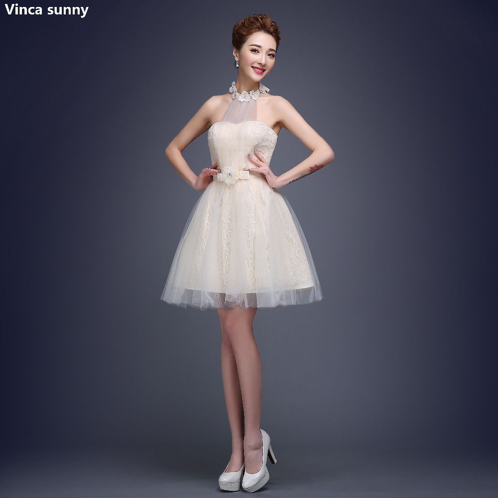 Click to buy ucuc vinca sunny sexy lace short cocktail dresses
