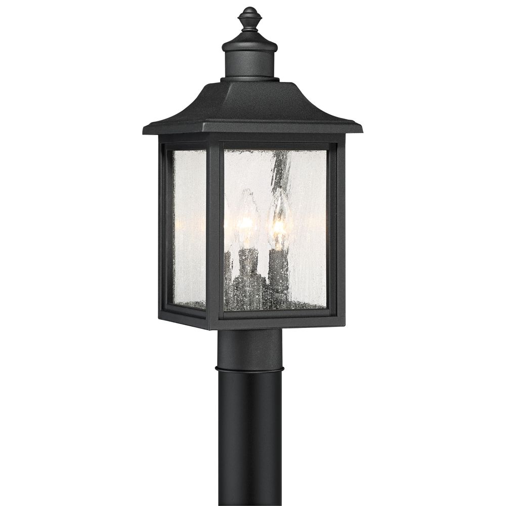 Moray Bay 17 High Black 3 Light Outdoor Post Style