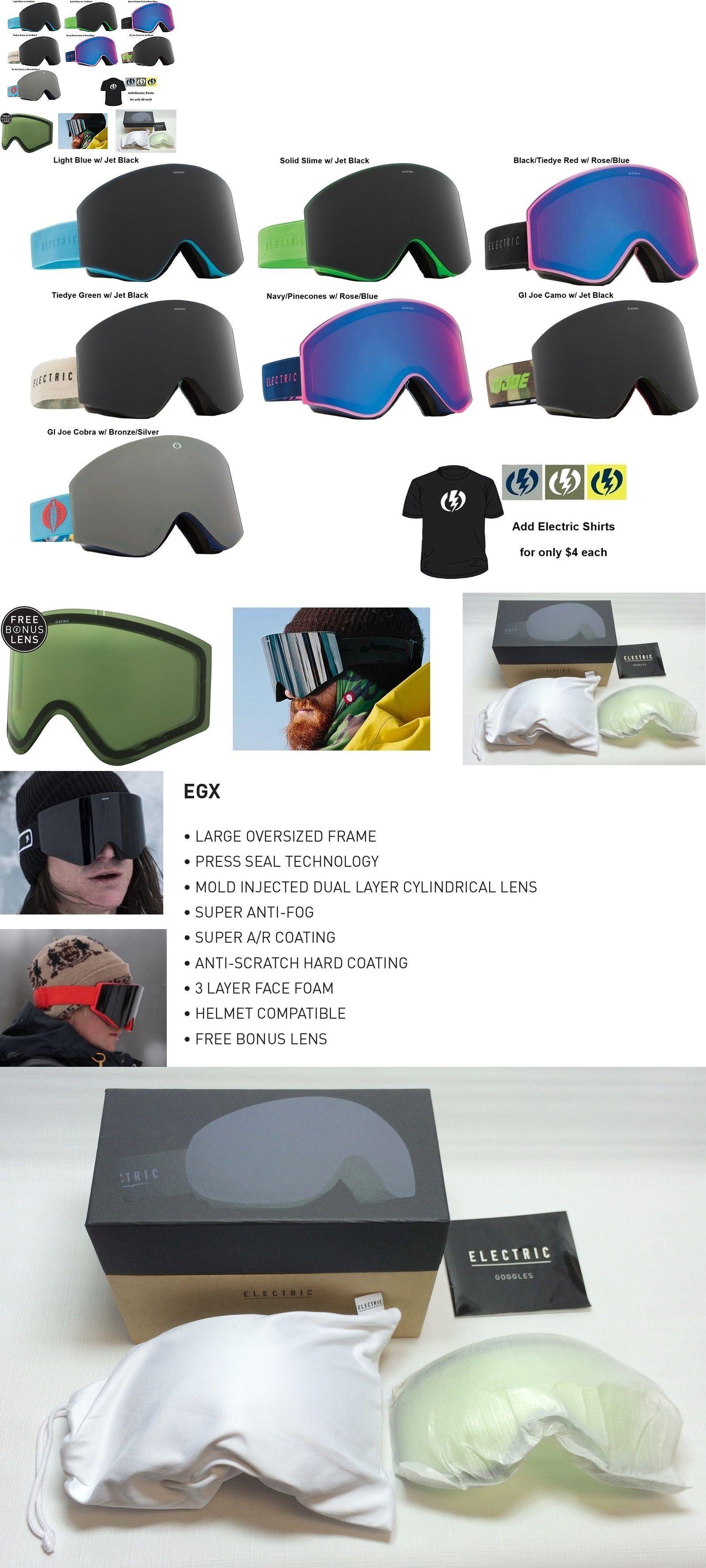 3e17e89be651 Goggles and Sunglasses 21230  New Electric Egx Mens Frameless Ski Snowboard  Goggles + Lens 2016