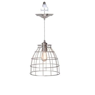 Home Decorators Collection Dovecote 11.5 in. Nickel Pendant Conversion Kit-1235900220 at The Home Depot