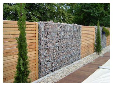 Am nagement jardin recherche google murs portails et grillages gabion fence gabion wall - Separation jardin ...