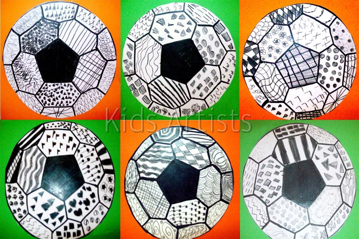 Kids Artists: The most beautiful soccer ball!