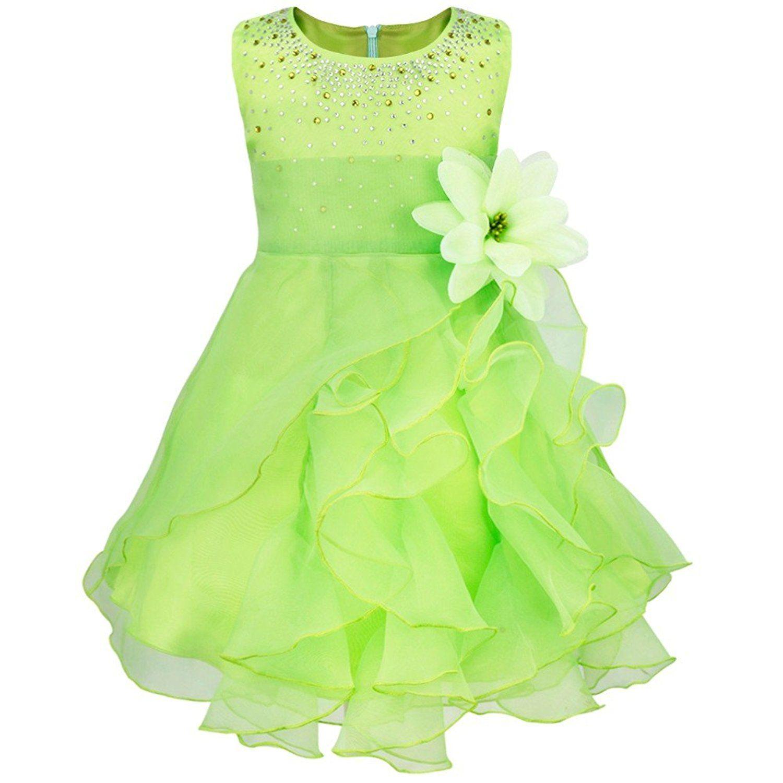 iEFiEL Babybekleidung - Baby Mädchen Kleid Blumenmädchen Festliches ...