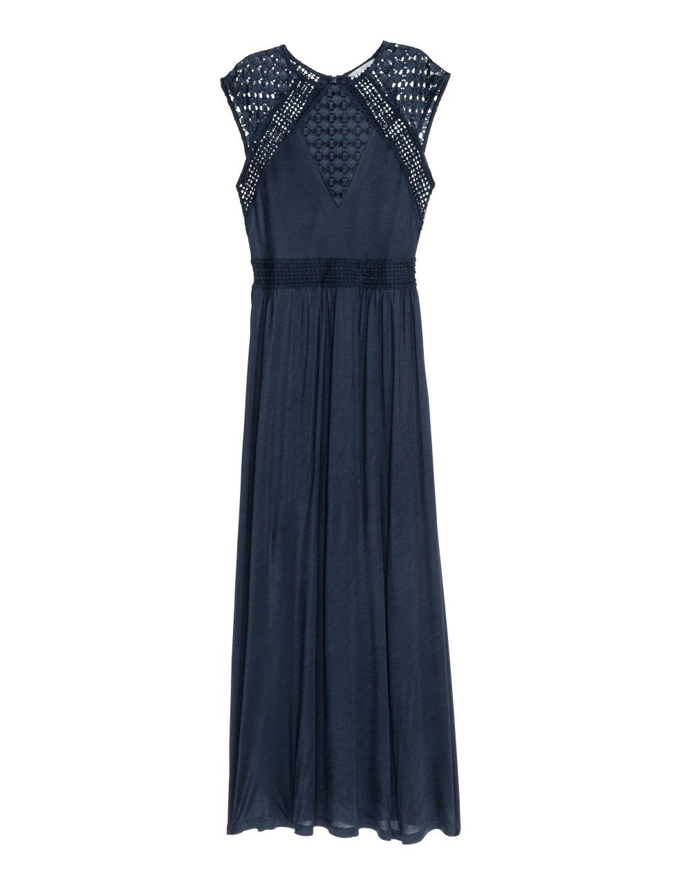 H&m blue lace dress  Maxi Dress with Lace  Dark blue  Ladies  HuM US  Cruise Vacation