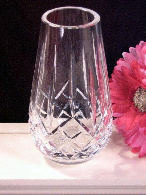 Vintage Waterford Crystal Lismore Flower Rose Vase Crystal Vases