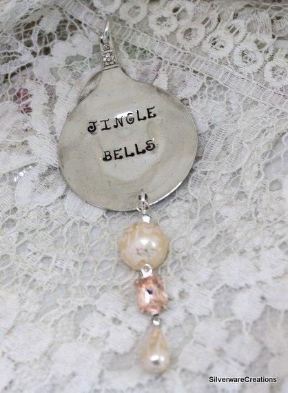 JINGLE BELLS Vintage Spoon Silverware Ornament Keepsake Gift Made in Usa by SilverwareCreations on Etsy