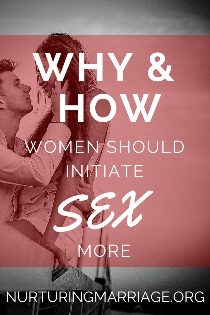 How do women initiate sex