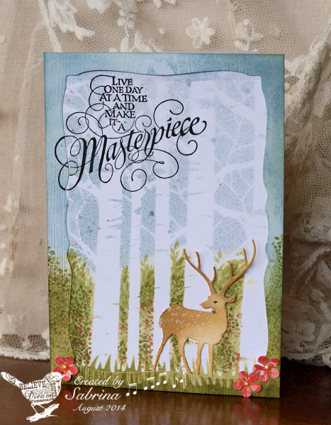 TLC495 Forest Deer by Cook22 - Cards and Paper Crafts at Splitcoaststampers