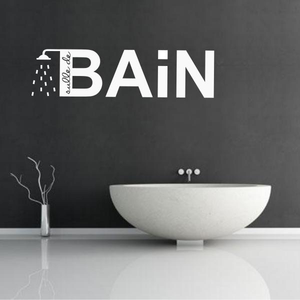 Une décoration maline avec des stickers salle de bains | Décoration ...