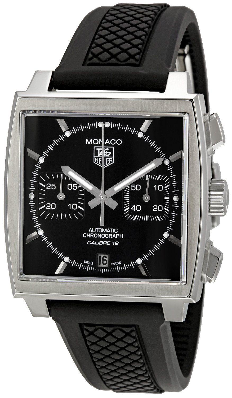 TAG Heuer Men's CAW2110.FT6021 Monaco Chronograph Watch #chronograph #chrono #tagheuer