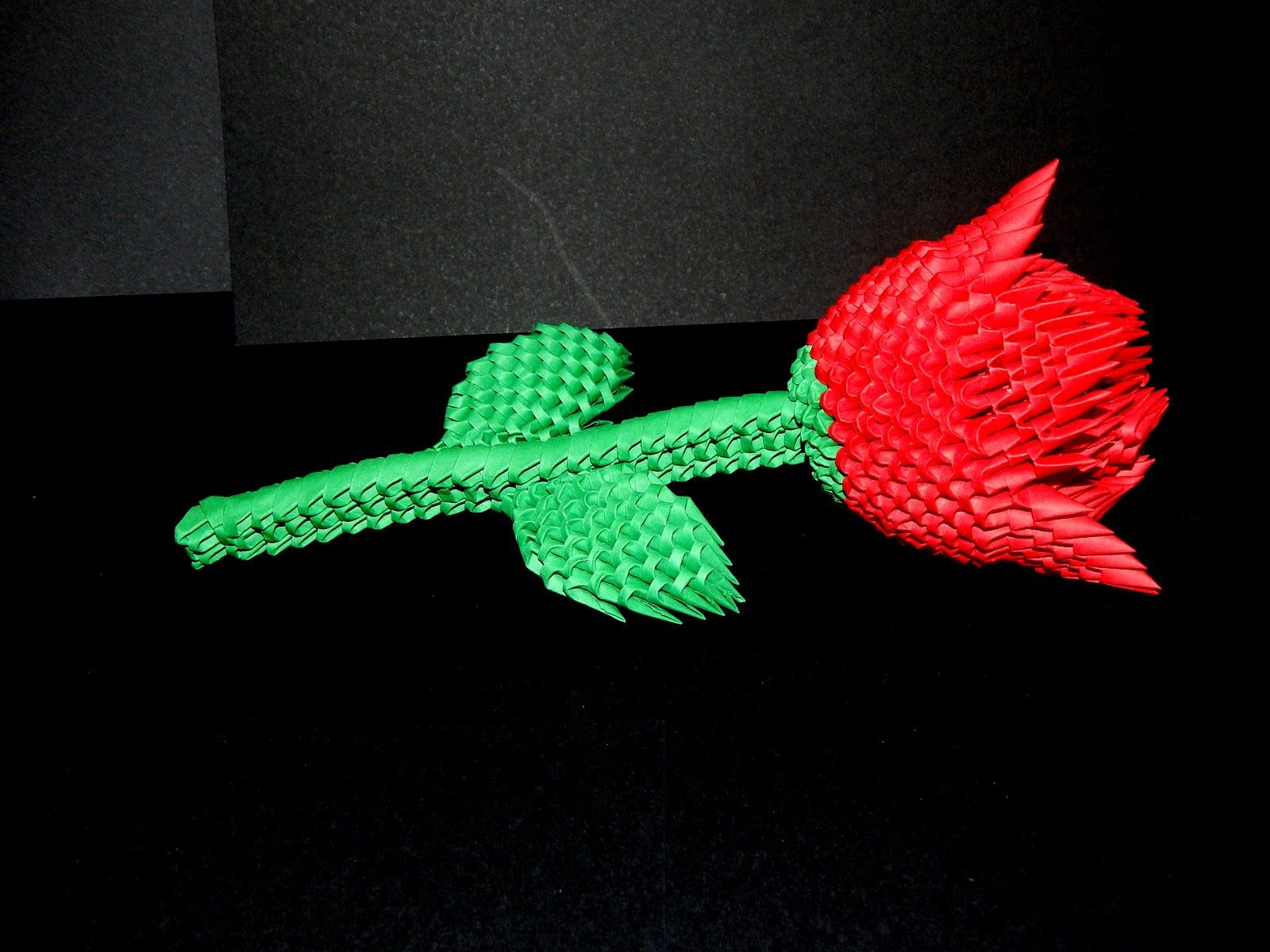 How to make 3d origami Rose part1 | ORIGAMI 3D | Origami ... - photo#43