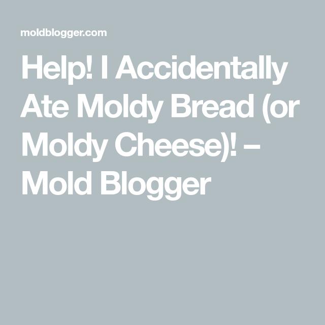 Help! I Accidentally Ate Moldy Bread (or Moldy Cheese ...