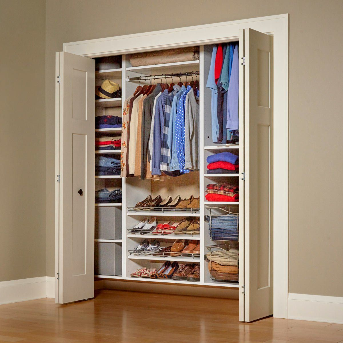 Build Your Own Melamine Closet Organizer Diy Closet Shelves Closet Built Ins Closet Organization Diy