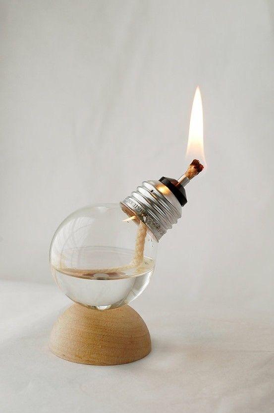 recycled light bulb