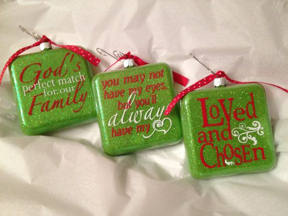 Celebrate the adoption of your child with a keepsake Christmas ornament.  Personalize your ornament with any of the examples shown above. If you - Adoption Christmas Ornament Personalized Christmas Ornament