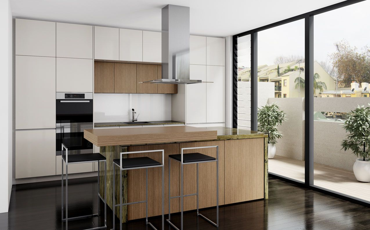 A small, but well appointed inner city kitchen design