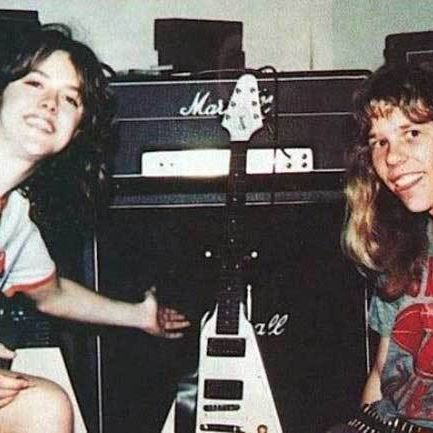 Very Young Lars Ulrich James Hetfield Larsulrich Jameshetfield Metallica Marshallamps Gibson Flyingv Metallica James Hetfield Celebrity Photos
