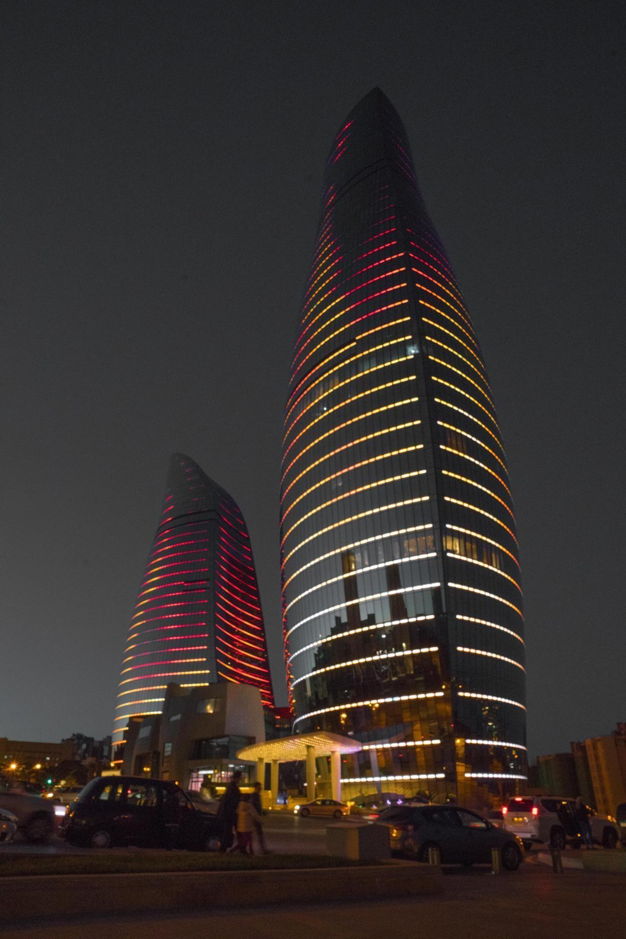 The Flame Towers in Baku Azerbaijan