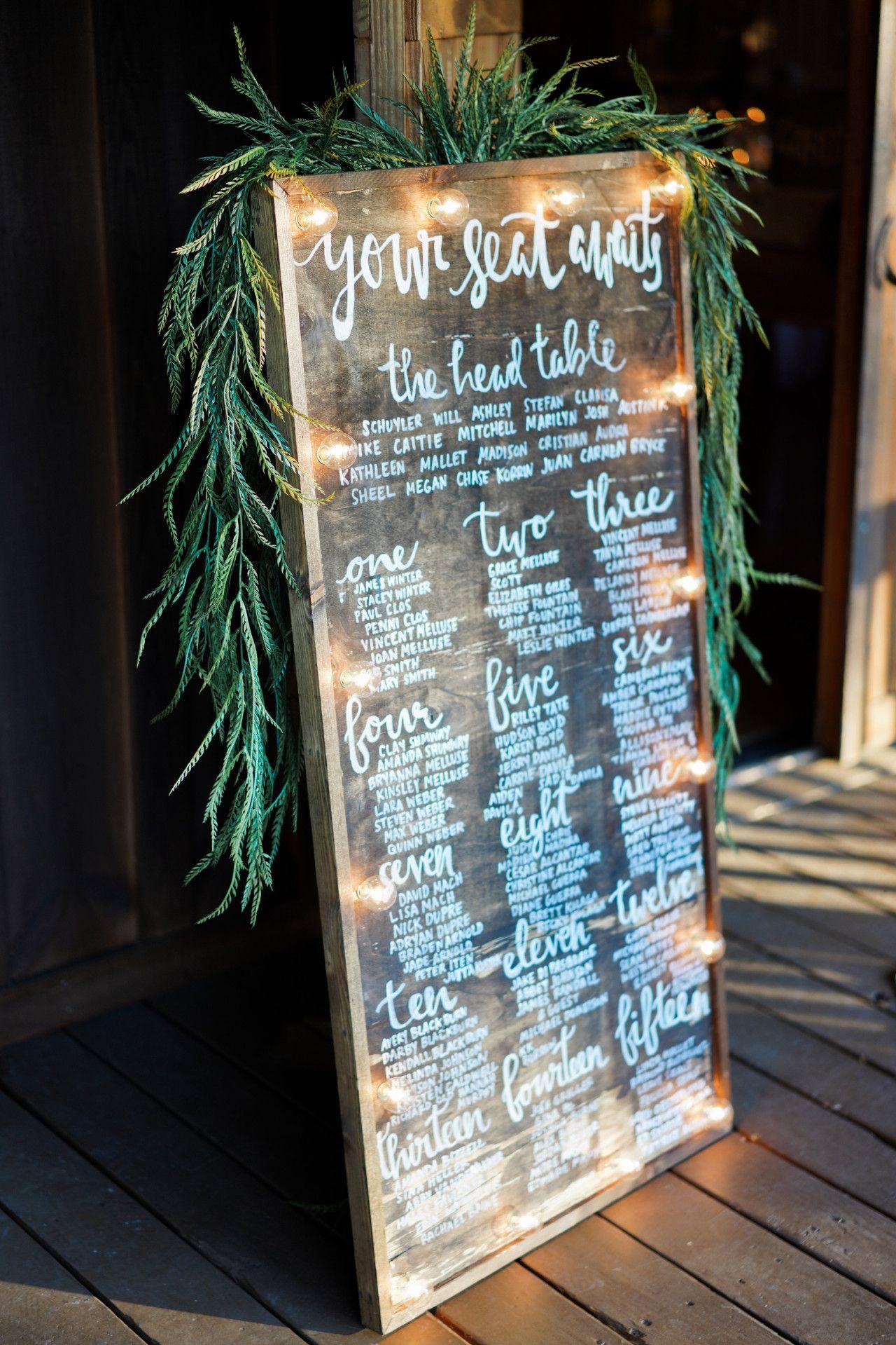 Wooden wedding decor ideas  wedding seating sign  wedding reception sign ideas  natural wooden