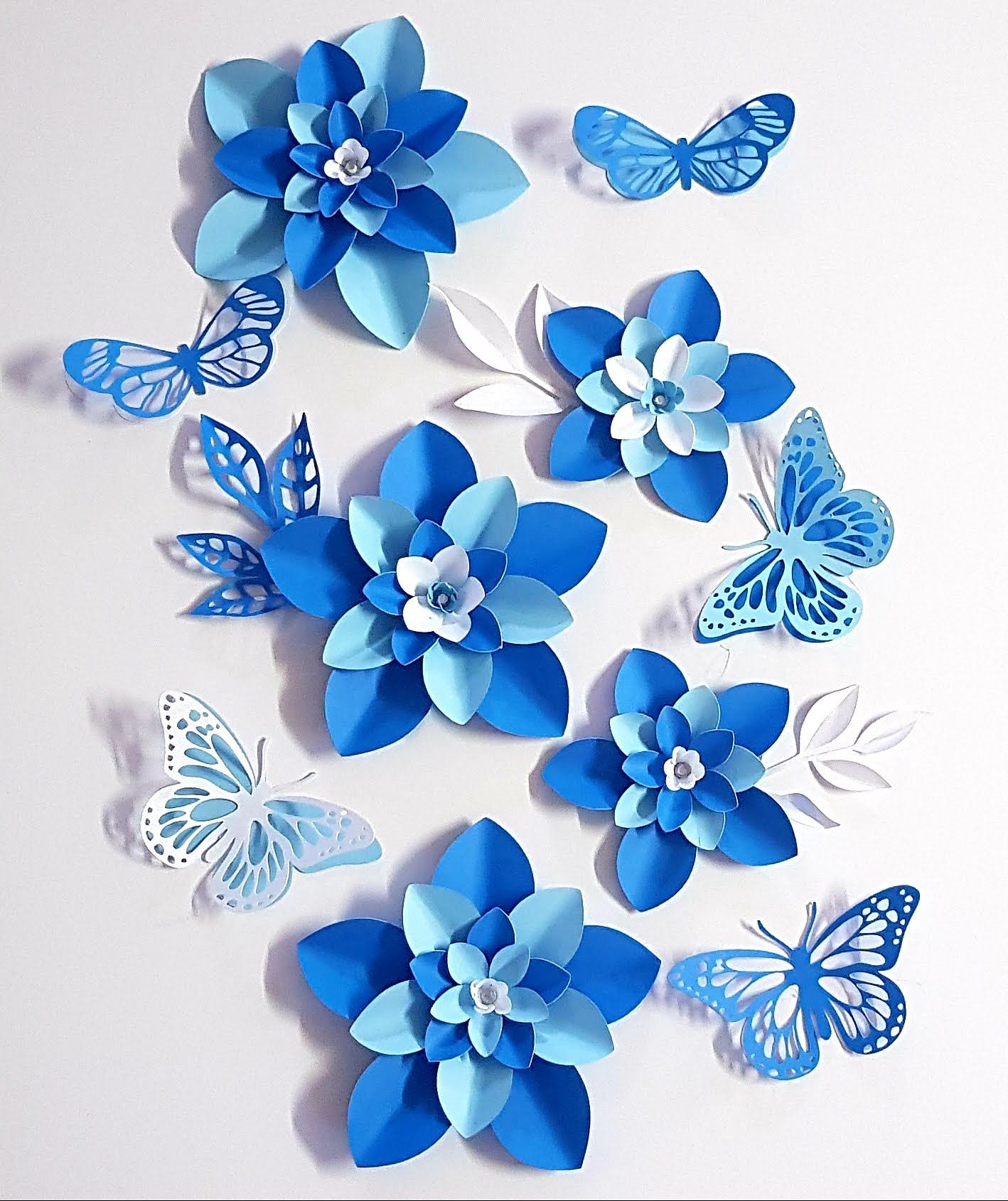 Paper Flower Table Toppers Or Filler Flowers And Butterflies For Your Paper Flowers Display Backdrop Paper Flower Tutorial Paper Flowers Diy Paper Flower Decor