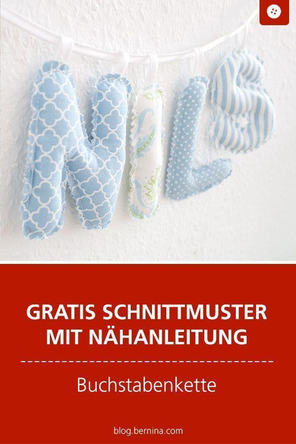 Photo of Baby-Buchstabenkette selbst nähen (kostenlose Nähanleitung)  ideen deko Baby-B…