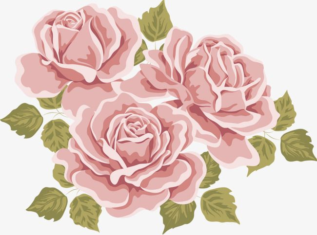 Hand Painted Flowers Green Leaves Red Rose Pattern Png Transparent Clipart Image And Psd File For Free Download Flower Painting Vector Flowers Color Pencil Illustration