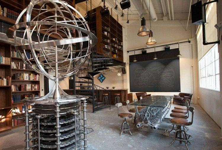 Steampunk Inneneinrichtung Dekoration Gyroskop Metall Essbereich  Futuristisch Tisch