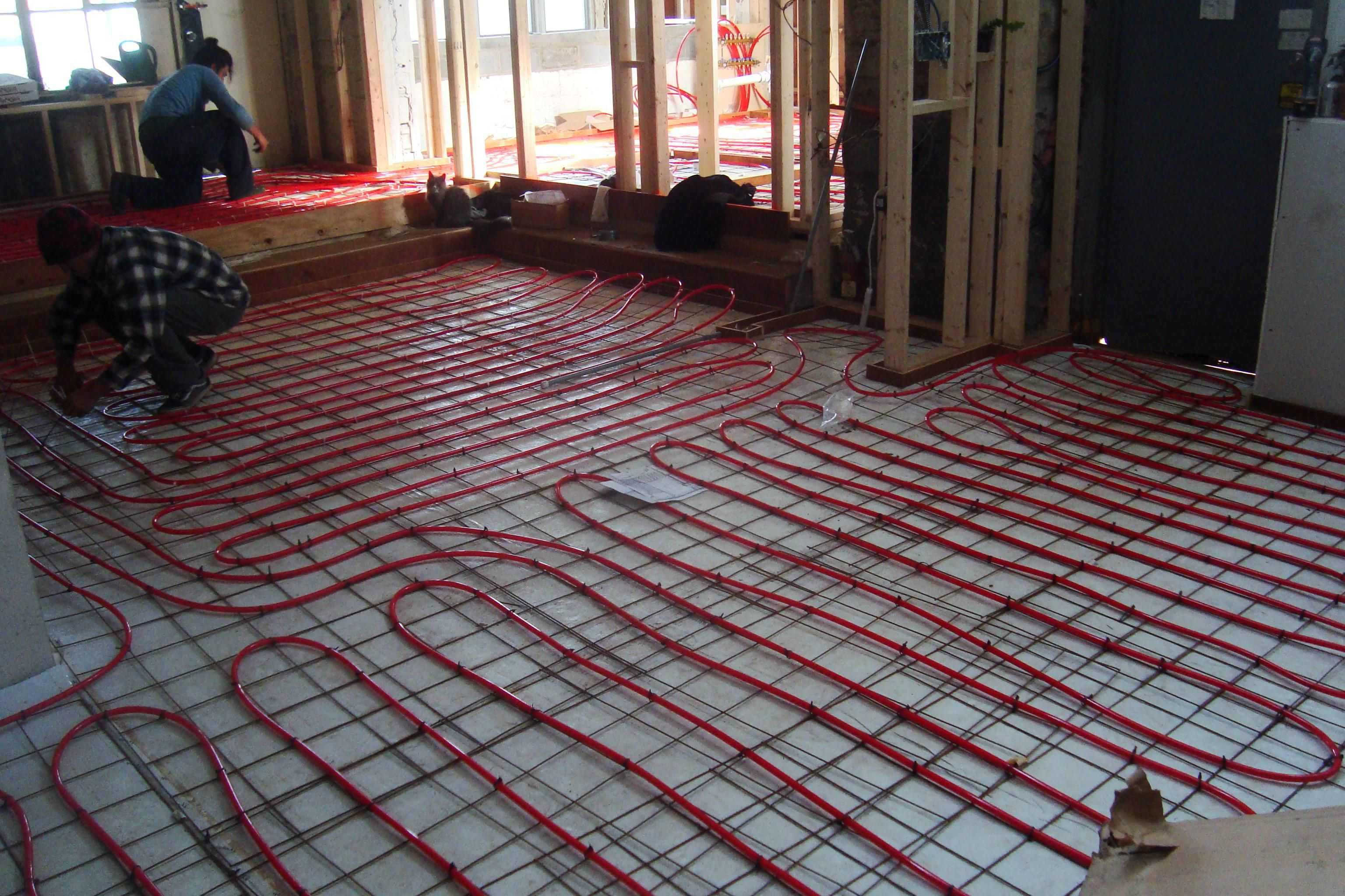 Pros And Cons Of Electric Radiant Floor Heating Heated Tile Floor Radiant Floor Heating Radiant Floor