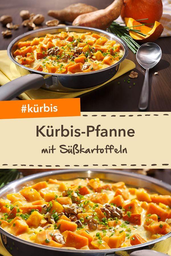 Süßkartoffel-Kürbis-Pfanne