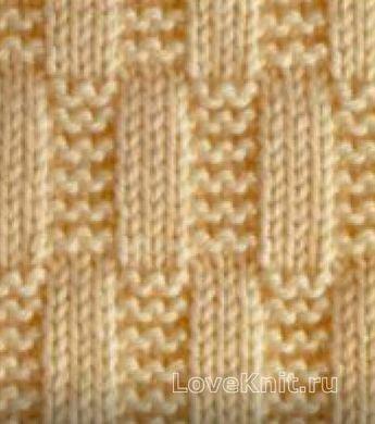 Вязание спицами гладь схема 43