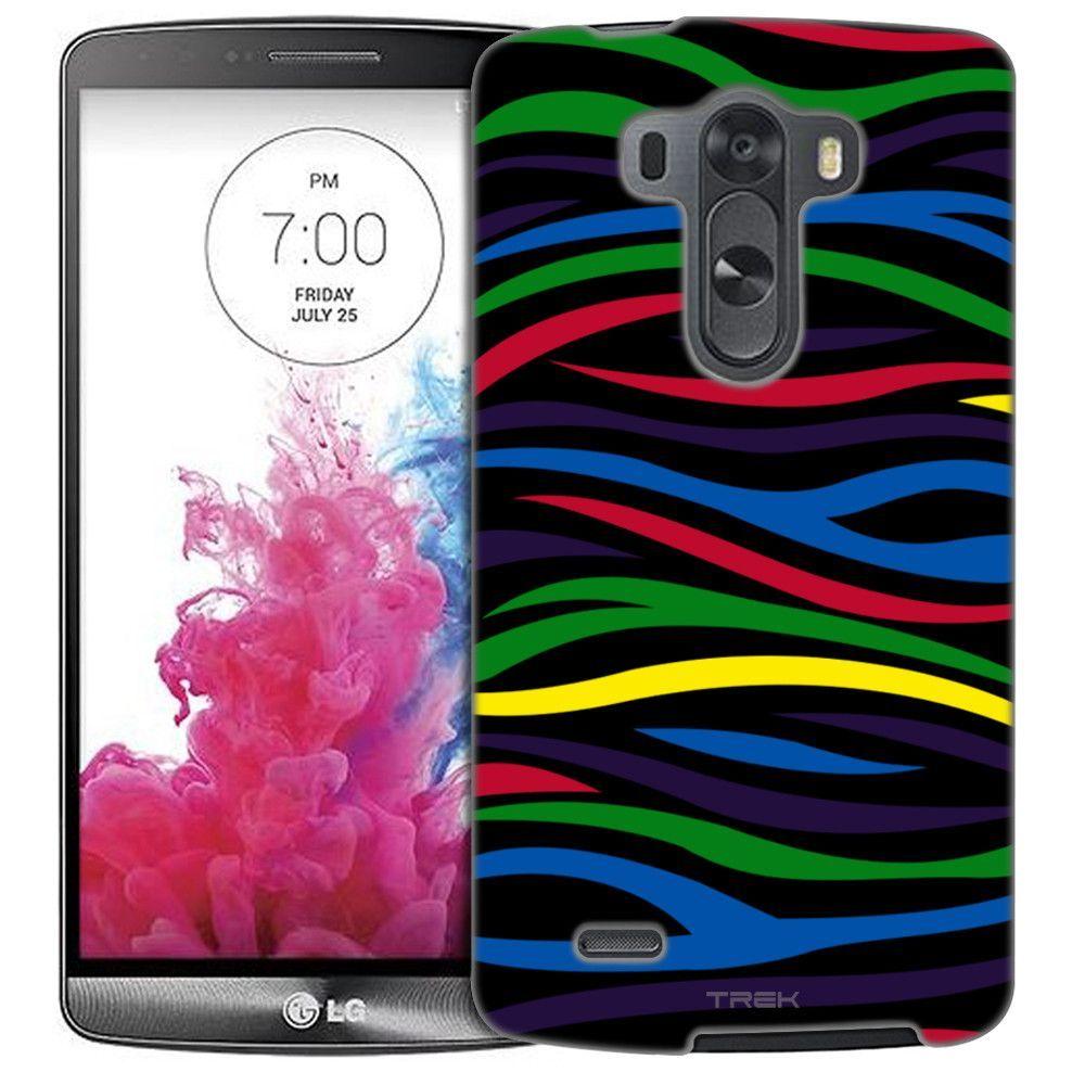 LG G3 Colorful Zebra on Black Slim Case