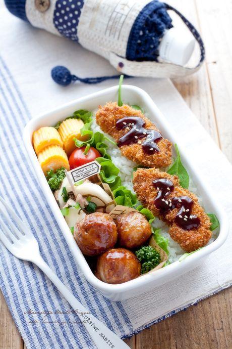 meatballs and pork katsu bento lunch box ideas pinterest best bento and. Black Bedroom Furniture Sets. Home Design Ideas