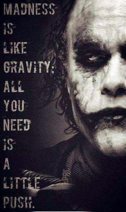 Thin Line Between Sanity And Insanity In This World Joker Joker Quotes Joker And Harley