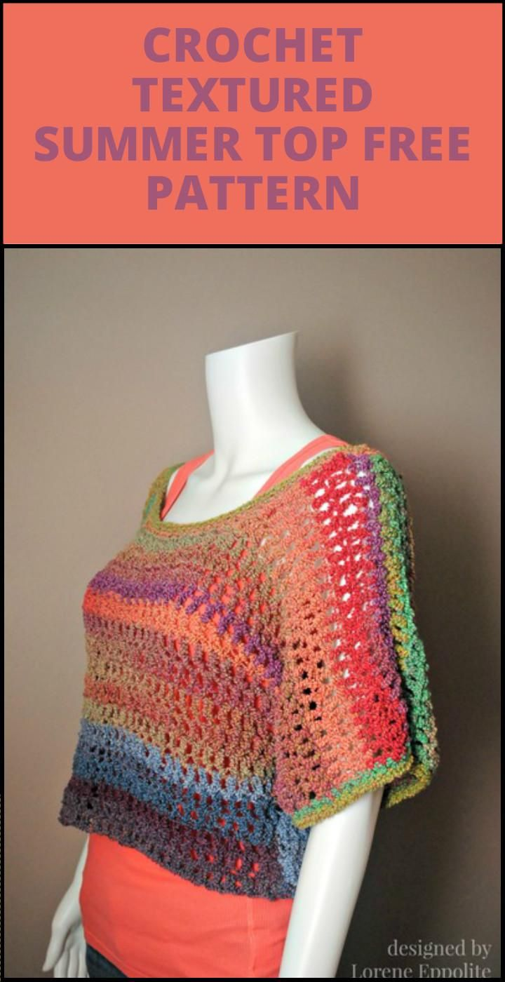 50+ Quick & Easy Crochet Summer Tops - Free Patterns