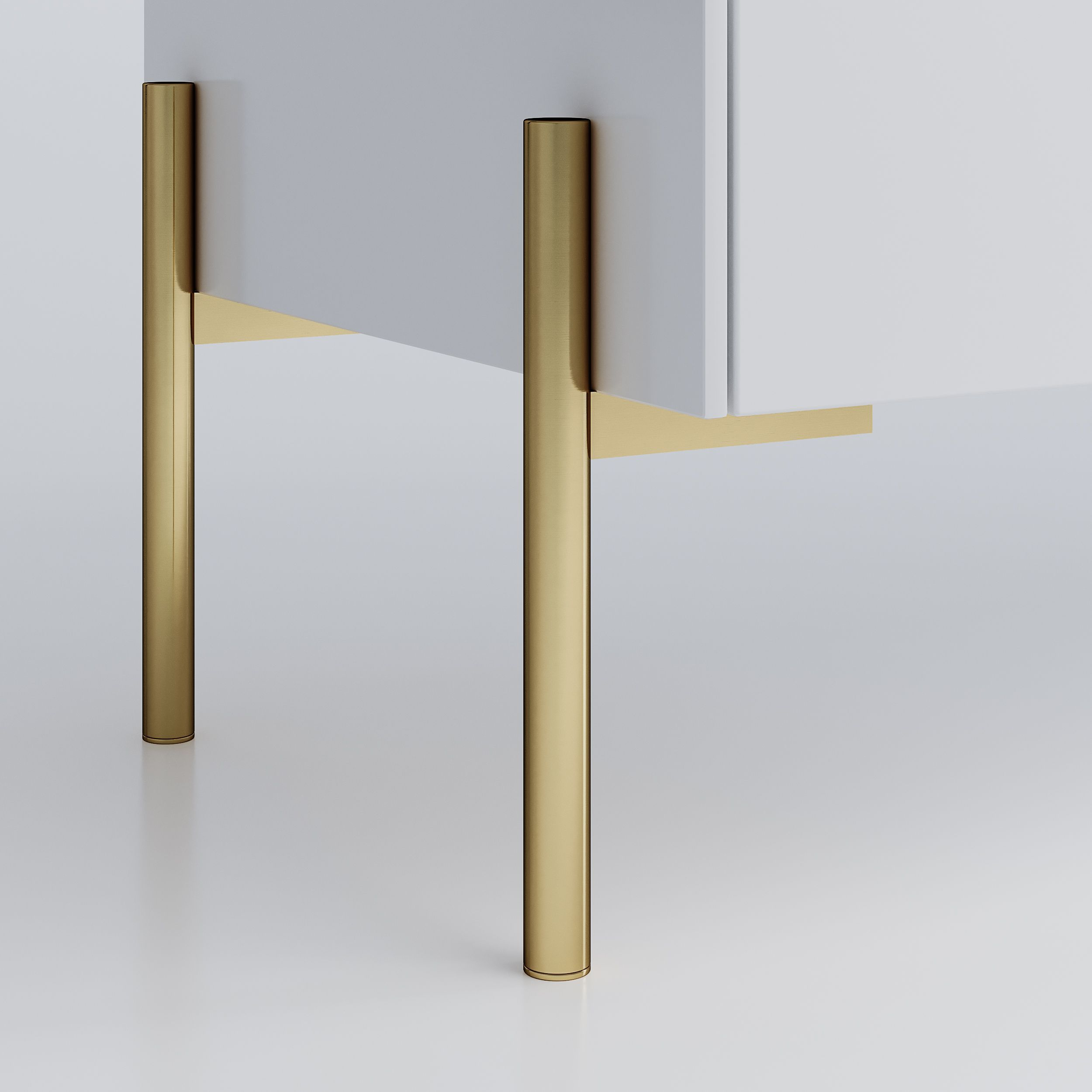 The Sara Is A Handmade Elegant Leg In Stainless Steel With Brass