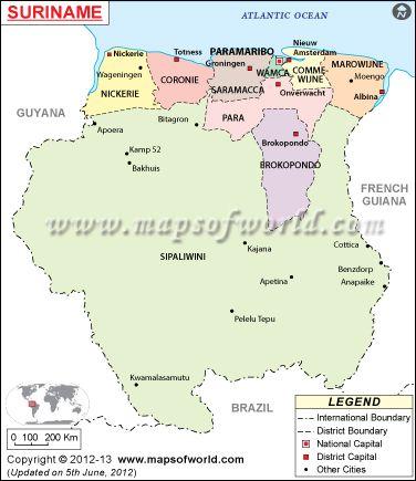 Mapa De Surinam Mapa Mundi Mapas Historicos E Geografia