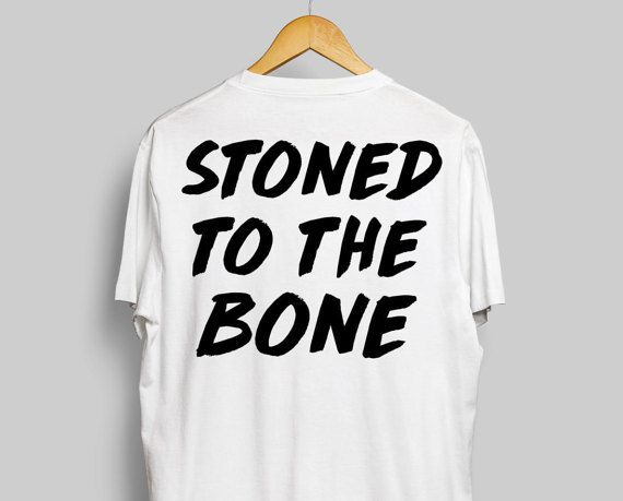 Stoned To The Bone Trippy White T-Shirt For by StonerMotivation