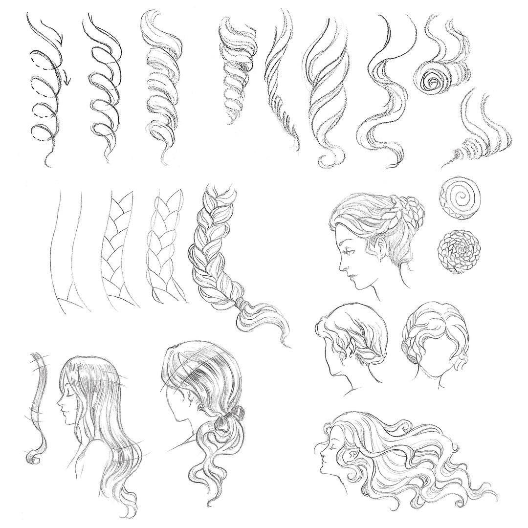Photo of Day 30 of #Sketchtember features these lovely female hairstyles. You can easily …