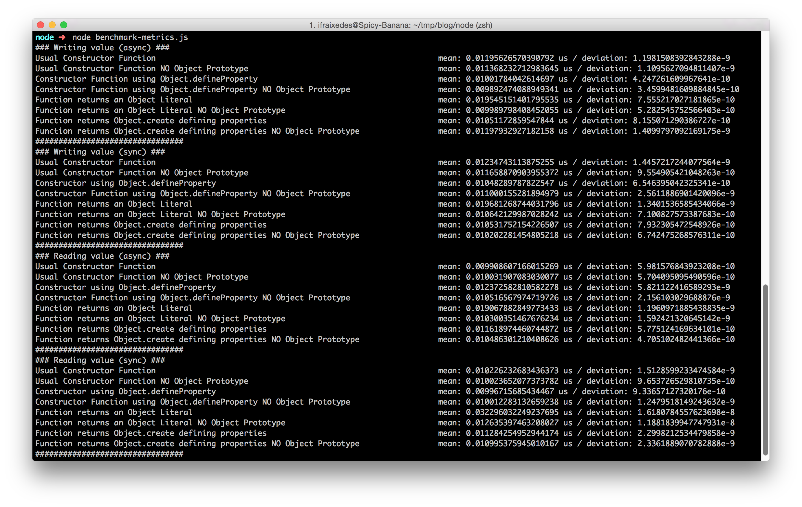 node v0.12.0 benchmark