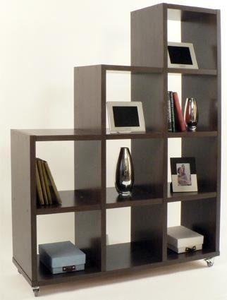 Mueble biblioteca escalonada repisa o divisor de ambientes for Repisas espacios pequenos