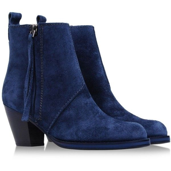 ACNE Ankle boots ($285) ❤ liked on Polyvore featuring shoes, boots, ankle booties, leather boots, leather ankle booties, leather ankle boots, high heel ankle boots and zipper boots