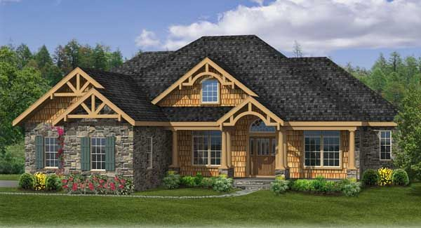 Sturbridge ii c house plan 4422 another smaller home for Country home plans with basement