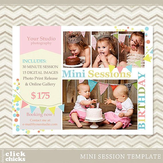 Birthday Mini Session  Photography Marketing by ClickChicksDesigns, $8.00
