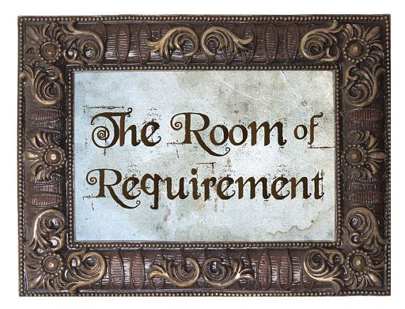 Room of Requirement Plaque Sign Gift Harry Potter Room House Present