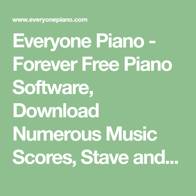 Everyone Piano - Forever Free Piano Software, Download